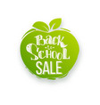 back to school sale on apple shape vector image vector image