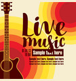 banner for concert live music with a guitar vector image vector image