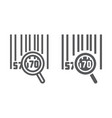 barcode search line and glyph icon logistic and vector image vector image