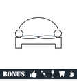 Bed icon flat vector image vector image