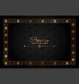 black and gold premium decorative background vector image
