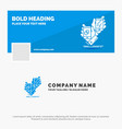 blue business logo template for awareness brand vector image