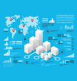 blue infographics vector image vector image