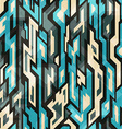 blue technology seamless pattern with grunge vector image