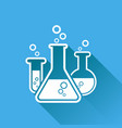 chemical test tube pictogram icon laboratory vector image vector image