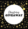 christmas giveaway banner card for social media vector image vector image
