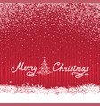 christmas snow background holiday greeting card vector image vector image