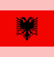 closeup flag albania vector image