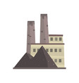 coal power plant or factory energy industrial vector image vector image