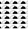 contour nice clouds natural weather design vector image vector image