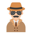 detective icon profession and job vector image vector image