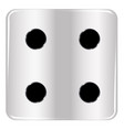 dice number four vector image vector image