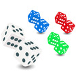 dice roll vector image vector image