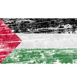Flag of Palestine with old texture vector image