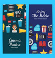 flat cinema icons web banner templates vector image