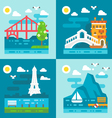 Flat design romantic landmark set vector image vector image