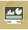 Flat icon with long shadow business presentation vector image vector image