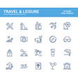flat line icons design-travel and leisure vector image vector image