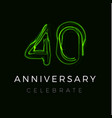 forty anniversary poster for party 40th years vector image vector image