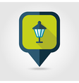 Garden lantern flat pin map icon vector image vector image