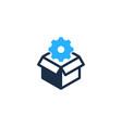 gear box logo icon design vector image