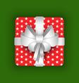 gift box with ribbon and bow christmas vector image vector image
