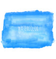 hand painted blue watercolor stain background vector image