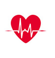 heartbeat icon heart rhythm vector image vector image