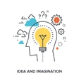 idea and imagination vector image vector image
