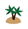 island and palm trees icon vector image vector image