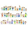 Jumping childrens vector image