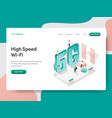 landing page template high speed wi-fi vector image vector image