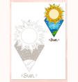 landscape of planet rhombus sun vector image vector image