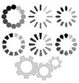 loading grey icons vector image