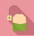matcha tea bag icon flat style vector image vector image