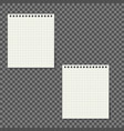 notebook paper with lines isolated on background vector image vector image