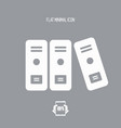 office archive folders icon vector image