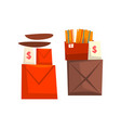 old unnecessary things boxes with old stuff vector image