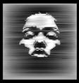 parallel line art face african woman portrait vector image vector image