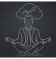 Peaceful businessman meditating vector image vector image
