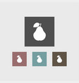 pear icon simple fruit vector image vector image