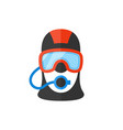 portrait of a scuba diver in an professional vector image vector image