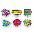 retro comic speech bubbles with swag yolo bang vector image vector image