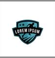 running emblem logo vector image vector image