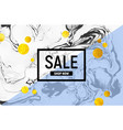 sale poster black and white marble baclground vector image vector image