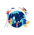 save planet - colorful flat design style vector image vector image