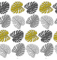 seamless pattern with gray monstera leaves on vector image vector image