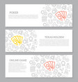 set of gambling and casino horizontal vector image