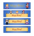 Set of Purim banners with Esther Mordecai and vector image vector image