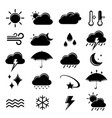 set of weather icon element vector image
